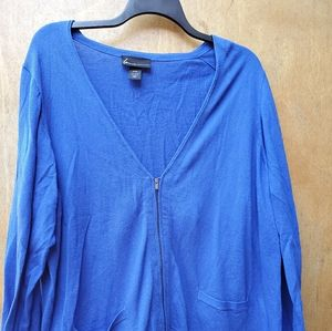 Lane Bryant zipper sweater  cobalt